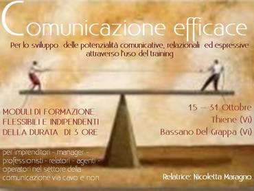 15 - 31 OTTOBRE  CORSI SULLA COMUNICAZIONE EFFICACE